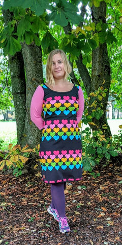 PDF-mønster/pattern: Add on adult dresses & woman size T-shirt