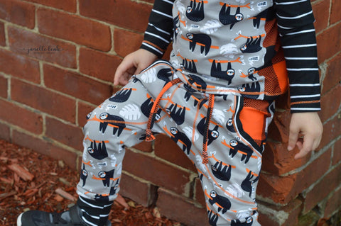 PDF-mønster/pattern: Harembyxa/pants child size 50-164 (US Newborn-14y)