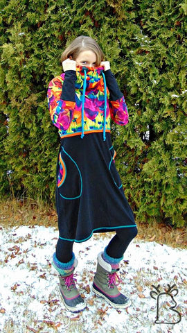Mønsterark/printed pattern: Cozy Dress size 34-54 (US 4-24)