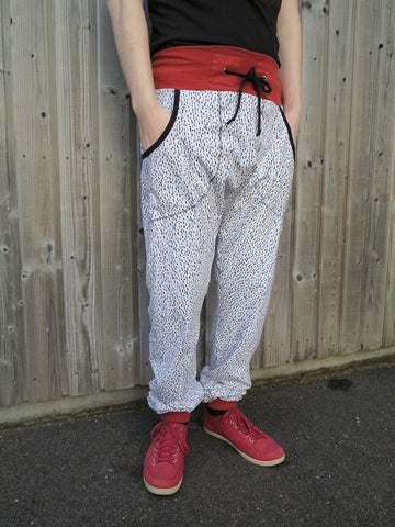 Mønsterark/Printed pattern: Harem byxa/pants adult sizes 34-54 (US 4-24) / sizes XS-XXXXXL