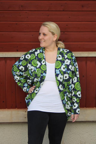 Mønsterark/printed pattern: Cozy Embrace Cardigan adult size 34-54 (US 4-24)