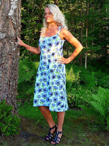 PDF-mønster/pattern: Knot another dress woman size 34-54 (US 4-24)