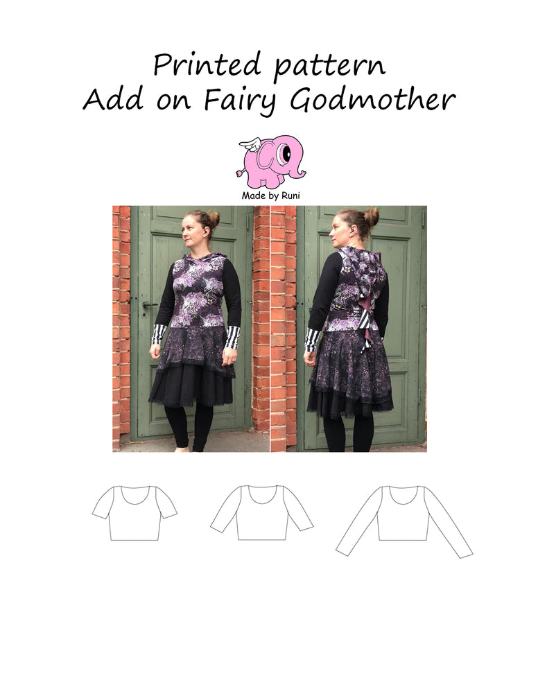 Mønsterark/printed pattern: Add on Fairy Godmother 34-54