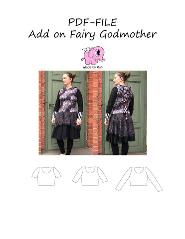 PDF-mønster/pattern: Add on Fairy Godmother 34-54