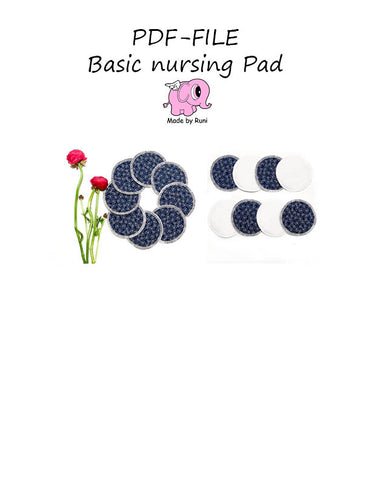 PDF-mønster/pattern: Basic nursing pad / cleaning pad