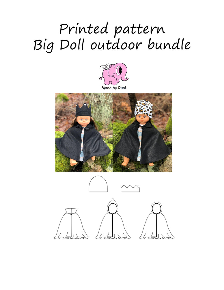 Mønsterark/printed pattern: Big doll outdoor bundle