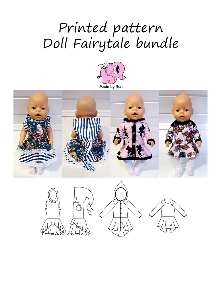 Mønsterark/printed pattern: Doll Fairytale bundle