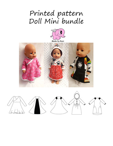 Mønsterark/printed pattern: Doll Mini bundle