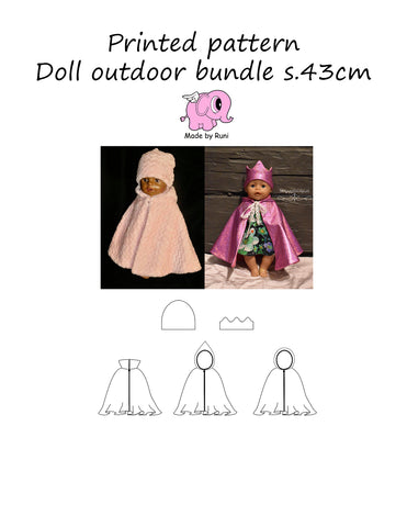 Mønsterark/printed pattern:  Doll Outdoor bundle