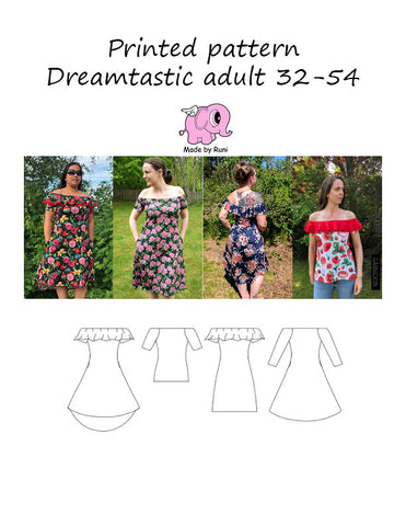 Mønsterark/printed pattern: Dreamtastic adult 32-54 (US 2-24)