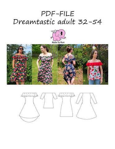 PDF-mønster/pattern: Dreamtastic adult 32-54 (US 2-24)
