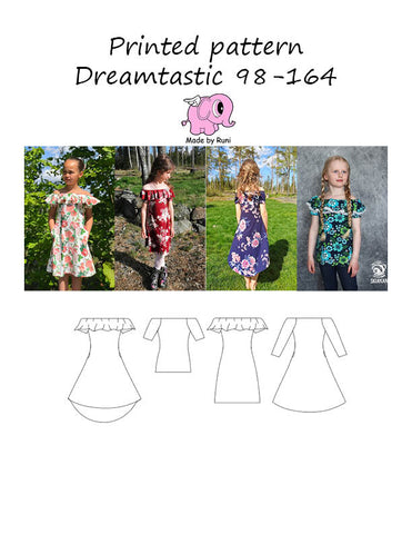 Mønsterark/printed pattern: Dreamtastic child size 98-164 (US 3T-14y)