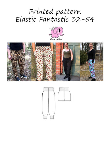 Mønsterark/printed pattern: Elastic Fantastic adult size 32-54 (US 2-24)