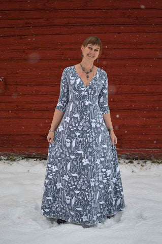 Mønsterark/printed pattern: Date Dress size 34-58 (US 4-28)