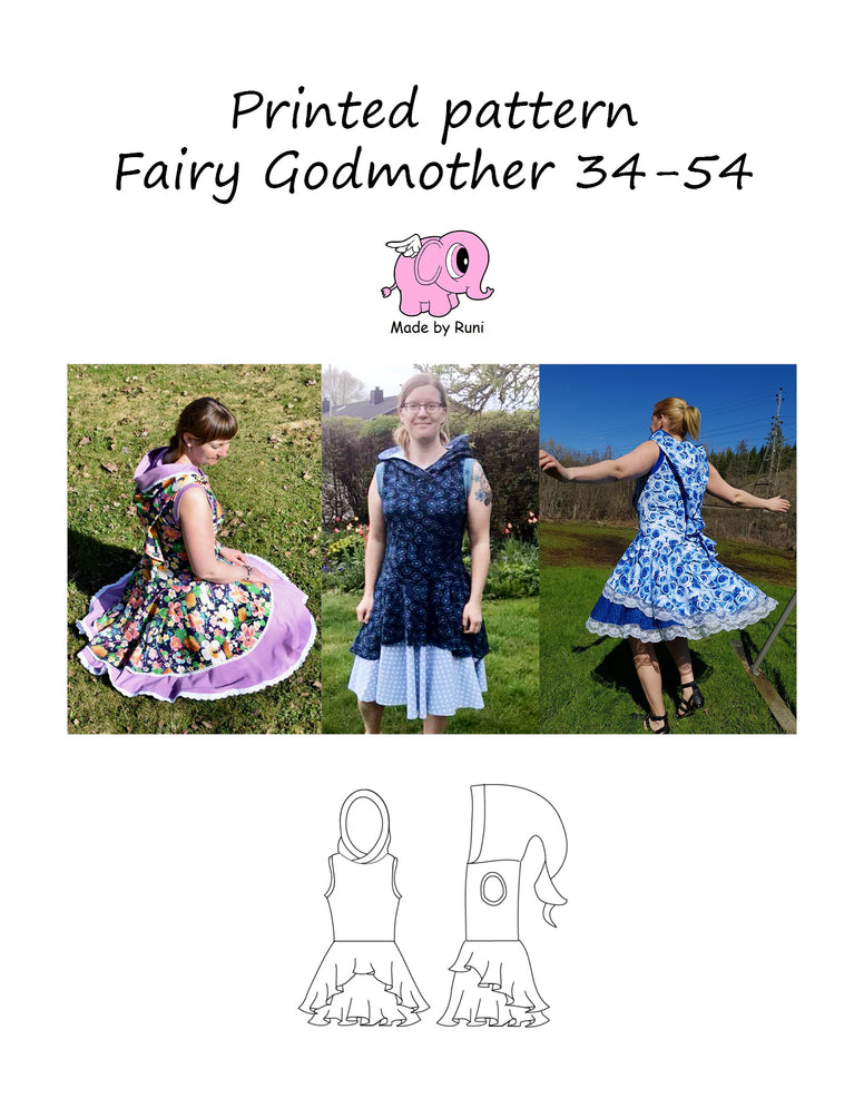 Mønsterark/Printed pattern: Fairy Godmother 34-54 (US 4-24)