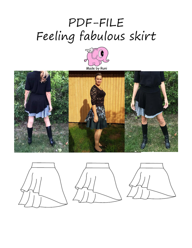 PDF-mønster/pattern: Feeling fabulous size 34-54 (US 4-24)