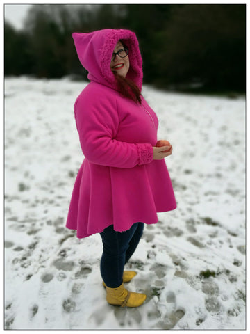 PDF-mønster/pattern: Fairytale Hoodie adult size 34-54 (US 4-24)