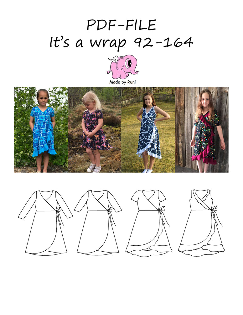 PDF-mønster/pattern: It's a wrap 92-164