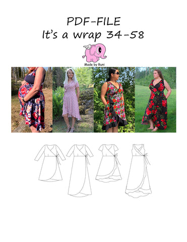 PDF-mønster/pattern: It's a wrap 34-58 (US 4-28)