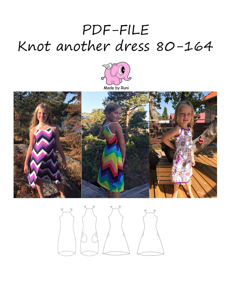 PDF-mønster/pattern: Knot another dress child size 80-164
