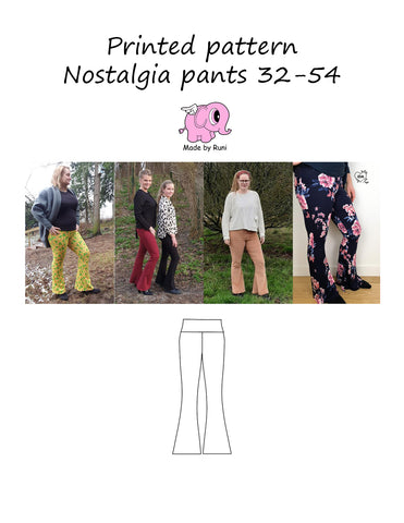 Mønsterark/printed pattern: Nostalgia pants adult 32-54 (US 2-24)