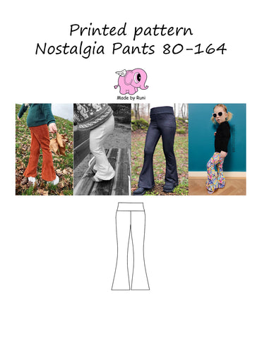 Mønsterark/printed pattern: Nostalgia pants 80-164 (US 12m-14y)