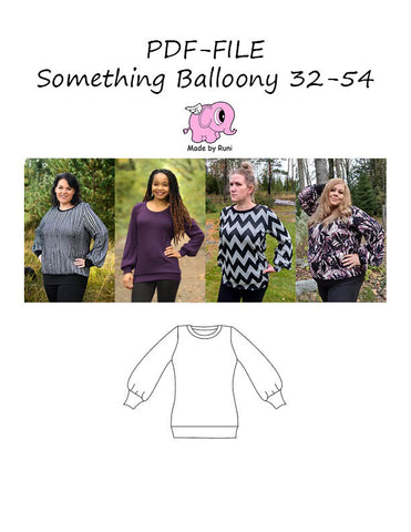 PDF-mønster/pattern: Something Balloony adult size 32-54 (2-24)