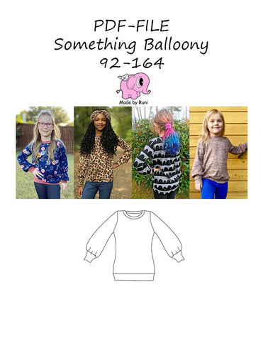 PDF-mønster/pattern: Something Balloony 92-164 (US 2T-14y)