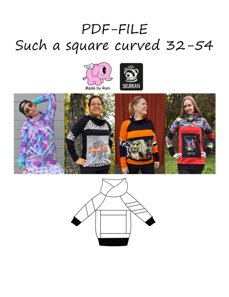 PDF-mønster/pattern: Such a square 32-54 (US 2-24)