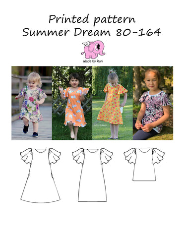Mønsterark/printed pattern: Summer Dream 80-164