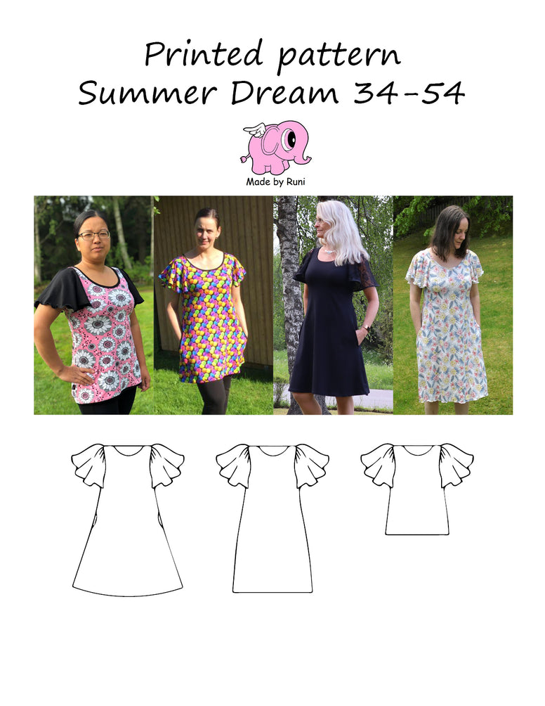 Mønsterark/printed pattern: Summer Dream adult 34-54 (4-24)