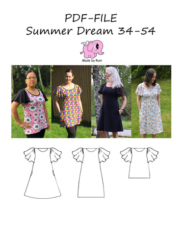 PDF-mønster/pattern: Summer Dream adult 34-54 (4-24)