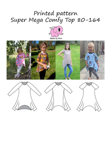 Mønsterark/printed pattern: Super Mega Comfy Top 80-164