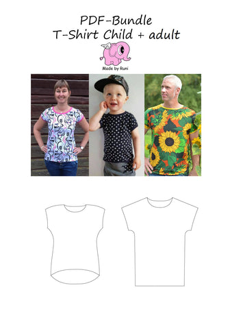 PDF-pakke/bundle: T-shirt  all models