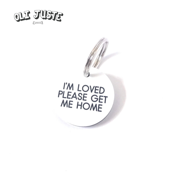"""Get Me Home"" Acrylic ID Tag"