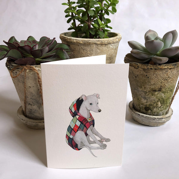 Greyhound In A Coat Card