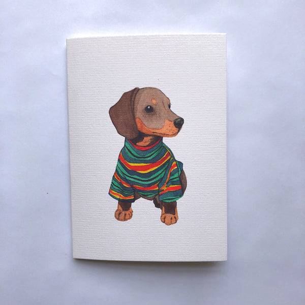Dachshund In A Turtleneck Card