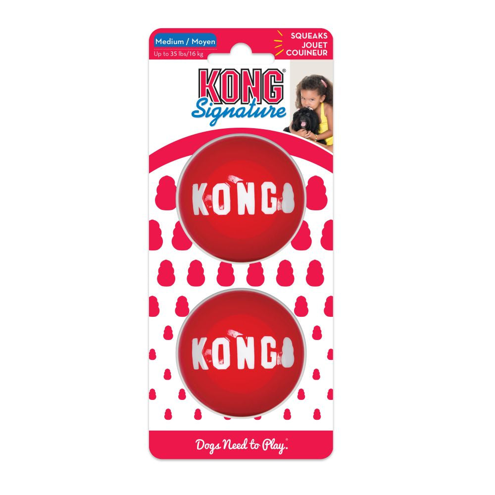 Kong Signature Ball Medium 2-pk