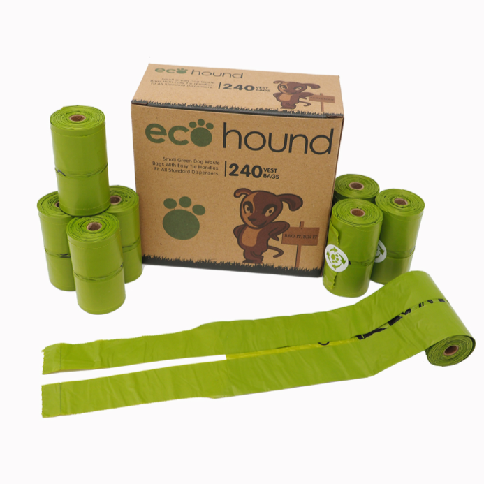 Ecohound Dog Poo Bags - Small 240 Bags (with handles)