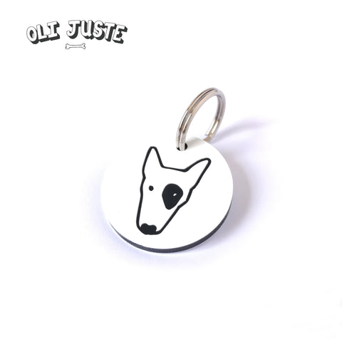 Dog Face Acrylic ID Tag