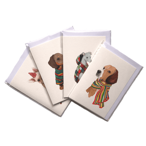 Mixed Greetings Card Pack of 4