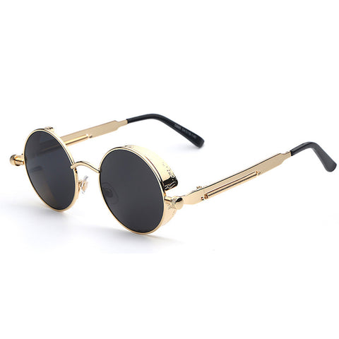 Gold Black Steampunk Sunglasses
