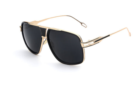 Gold Black Vintage Sunglasses