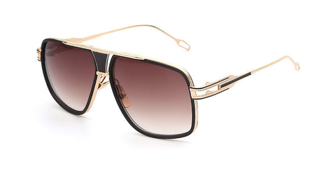 Gold Brown Vintage Sunglasses