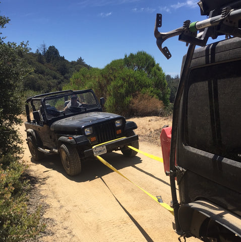 tow rope jeep jk trail recovery