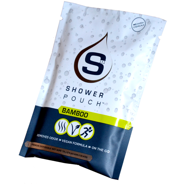 3-pack Shower Pouch Sampler (1 Unscented / 1 Cucumber / 1 Bamboo)