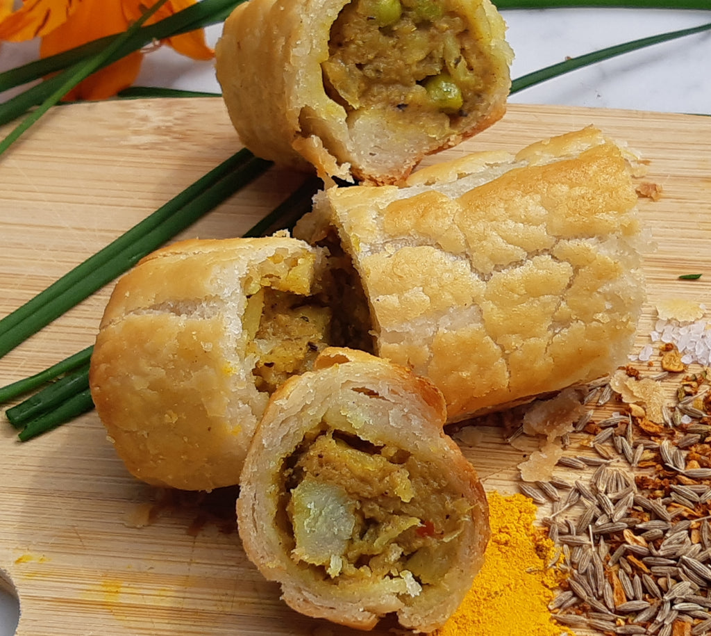 SECONDS - Vegan Samosa Rolls