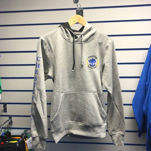 Chester FC Adults Grey Hoodie