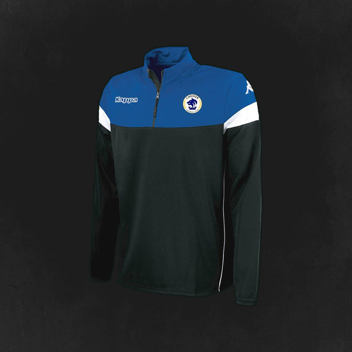 Adult Chester FC Kappa 1/4 Zip Tracksuit Top