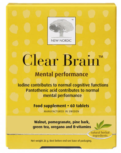 Clear Brain New Nordic 60 Tablets